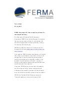 "FERMA Press Release ""FERMA discourages EU from compulsory schemes for catastrophe insurance"""