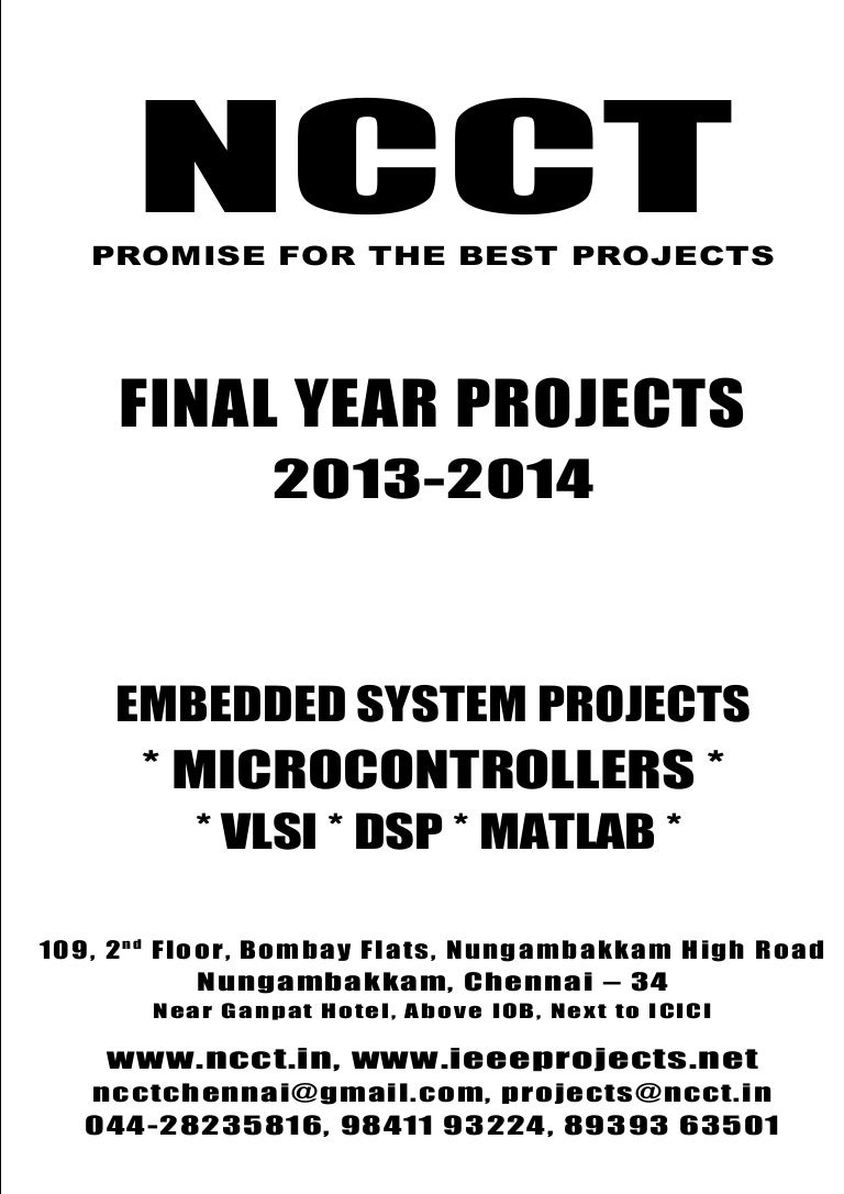 2013 14 Embedded Systems Project List Non Ieee Based Ele Voice Recognition System And Controllers
