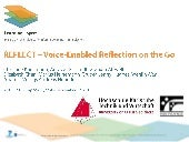 REFLECT - Voice-Enabled Reflection on the Go