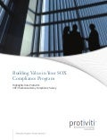 Protiviti's 2013 SOX Compliance Survey