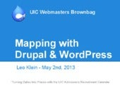 Mapping with Drupal and WordPress