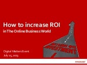 How to increase ROI of the digital business world