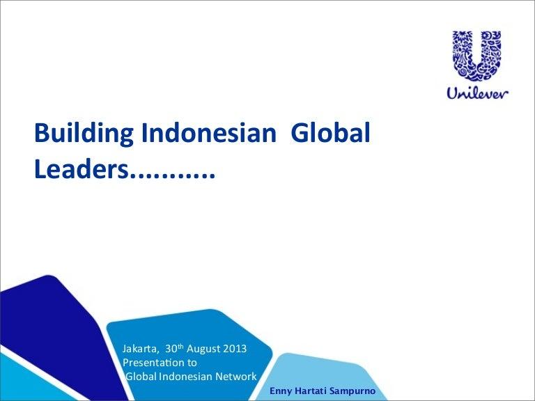 gi net 12 - building indonesian global leaders   unilever indonesia, Presentation templates