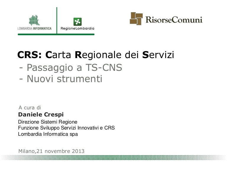 SOFTWARE CRS LOMBARDIA SCARICARE