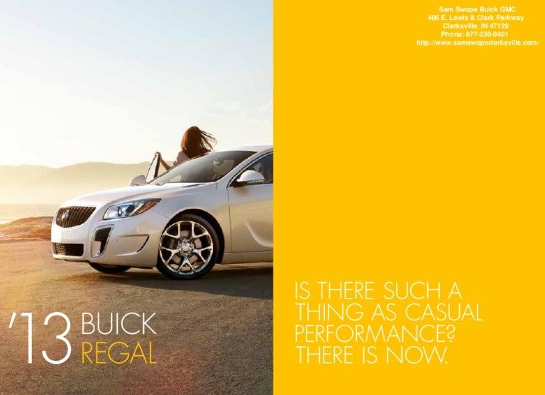 2013 Buick Regal Brochure In Clarksville Buick Dealer