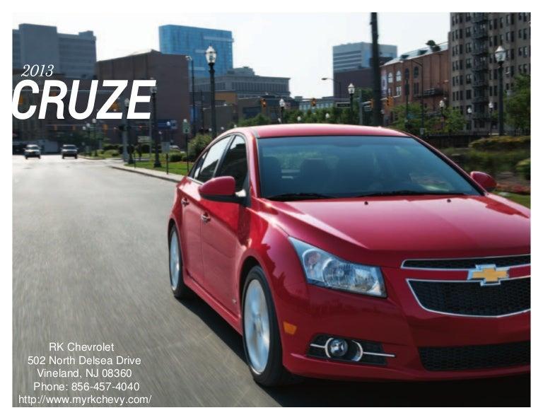 2013 Chevrolet Cruze Brochure South Jersey Chevrolet Dealer