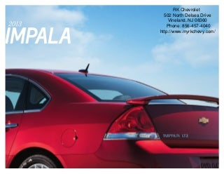 2013 Chevrolet Impala Brochure - South Jersey Chevrolet Dealer