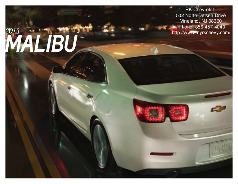 2013 Chevrolet Malibu Brochure | South Jersey Chevrolet Dealer