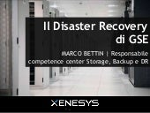Evento EMC Forum 2013 | Il Disaster Recovery di GSE