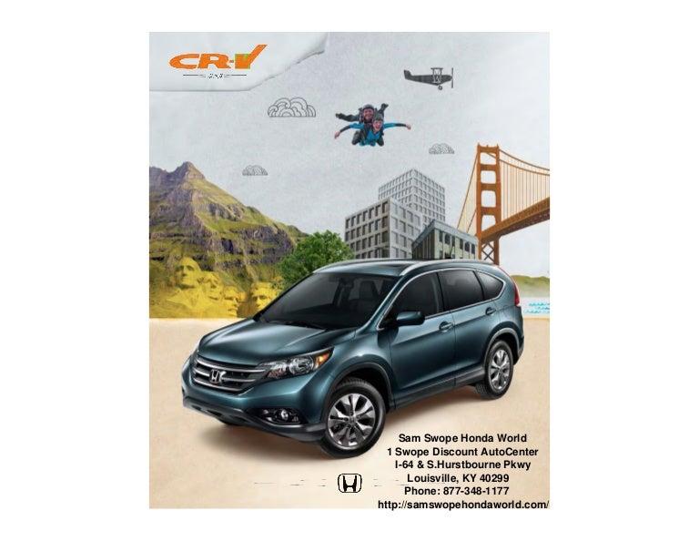 Sam Swope Honda >> 2013 Honda Cr V Brochure Ky Louisville Honda Dealer