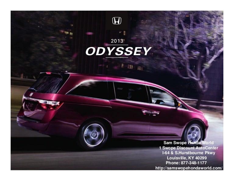 Honda Dealership Louisville Ky >> 2013 Honda Odyssey Brochure Ky Louisville Honda Dealer
