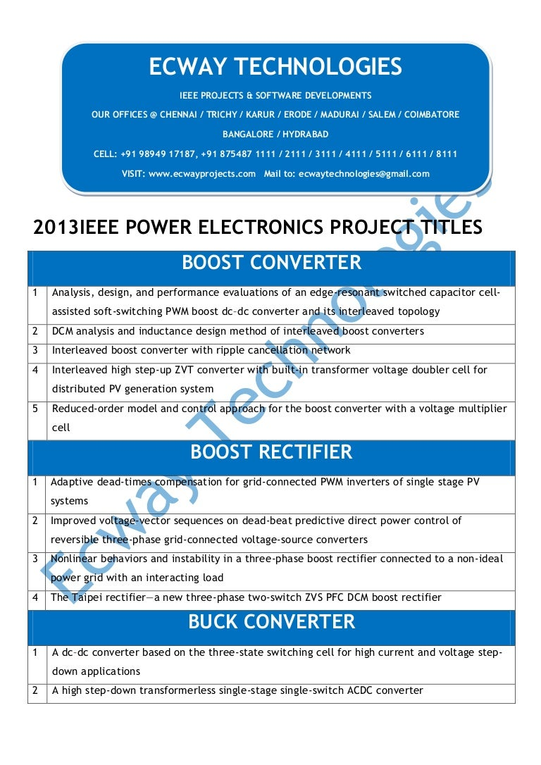 2013 Ieee Powerelectronics Circuit Projects High Current Transformerless Power Supply