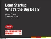 Lean Startup: What's the Big Deal? (2013 Latino Innovators Summit)