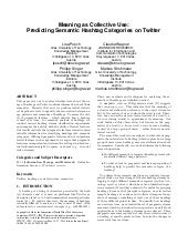 Meaning as Collective Use: Predicting Semantic Hashtag Categories on Twitter