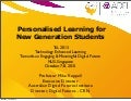 Keynote: Personalised Learning for New Generation Students