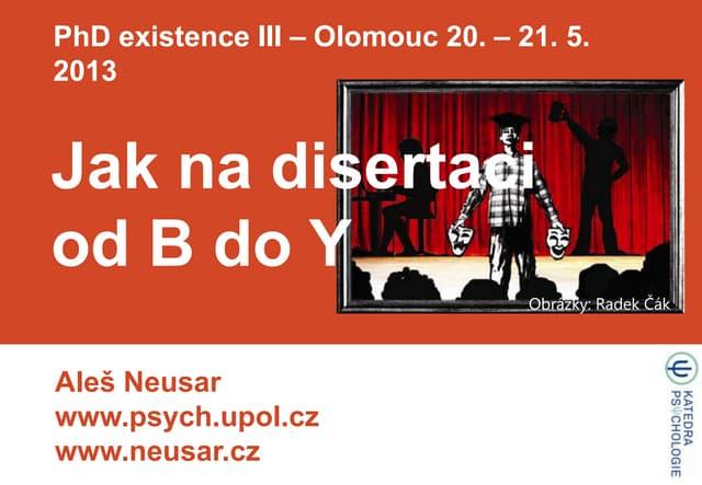 Psaní disertace od B do Y - workshop - 1h13m15s