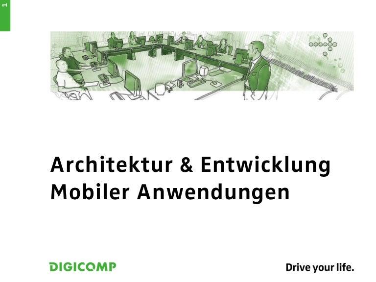 Referat: Architektur und Entwicklung mobiler Anwendungen