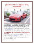 2013 Scion FR-S in Orlando offers iconic style