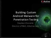 2013 Toorcon San Diego Building Custom Android Malware for Penetration Testing
