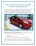 Orlando Toyota Prius deemed to have Best Value by Consumer Reports!