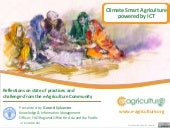 Synthesis from the forum on ICT and Agriculture in the Context of Green Growth