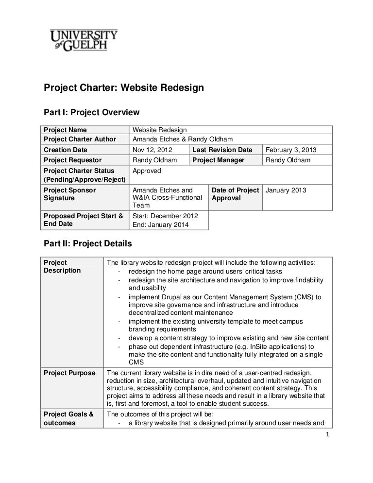 Website RedesignProjectCharterFinal