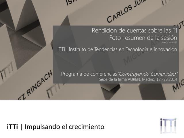 Rendicion de cuentas sobre TI. Foto-resumen de la sesion (Spanish)