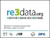 re3data.org presented at 3rd RDA Plenary
