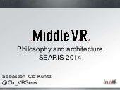 IEEE VR-SEARIS 2014 Keynote - MiddleVR - Philosophy and architecture