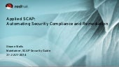 2014-07-31 customer convergence applied scap