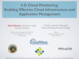 3-D Cloud Monitoring: Enabling Effective Cloud Infrastructure and Application Management (CNSM 2014)