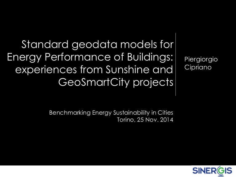 Standard Geodata Models For Energy Performance Of Buildings Experien