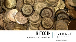 An Introduction to BitCoin and Cryptocurrency Ecosystem