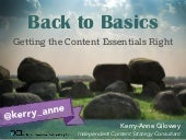 Back to Basics: Getting the Content Essentials Right