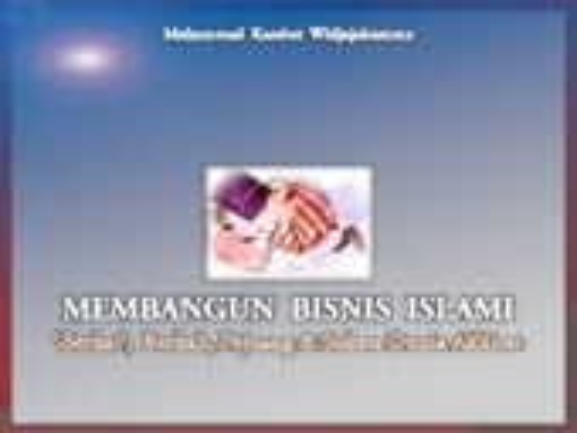 2014   bisnis islam + business plan