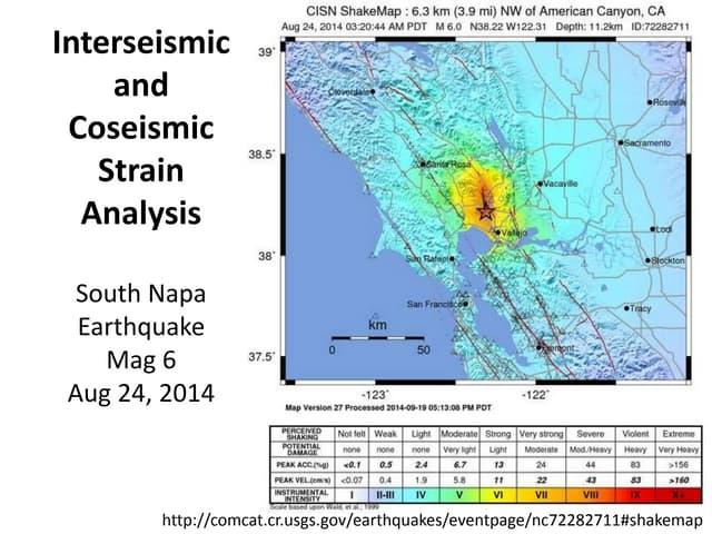 Unit 5 2014 South Napa earthquake presentation