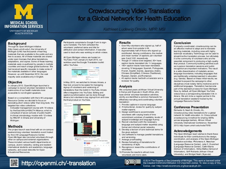 Crowdsourcing Video Translations for a Global Network for Health Edu…