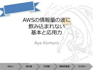 2014/05/10 JAWS-UG高知 第三回 脱初心者! AWSの情報量の波に飲み込まれない基本と応用力