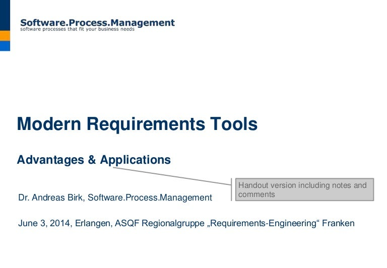 Modern Requirements Tools Advantages Applications - Business requirements tools