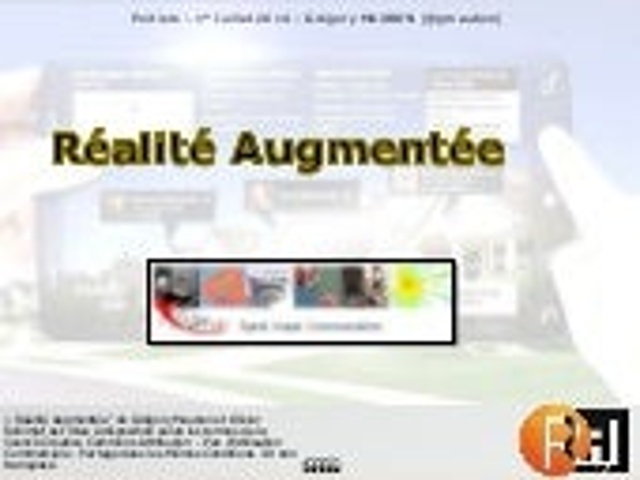 La Réalité Augmentée - Poitiers 1er juillet 2014 - XLIM SIC