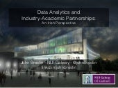 Data Analytics and Industry-Academic Partnerships: An Irish Perspective