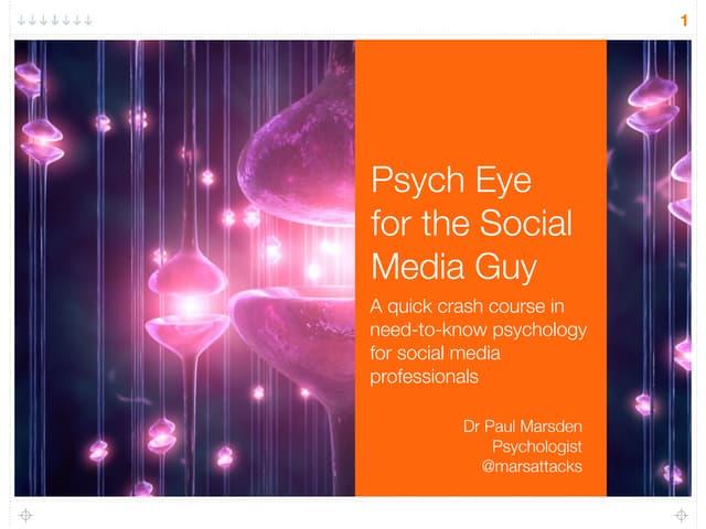 Psych Eye for the Social Media Guy