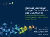 Lead Generation and demand creation in europe - sirius-decisions