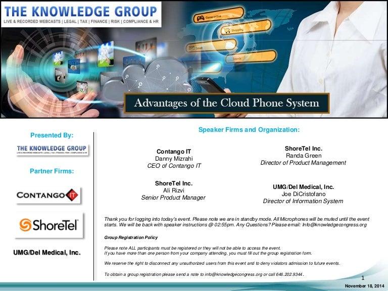 Advantages of the Cloud Phone System LIVE Webcast