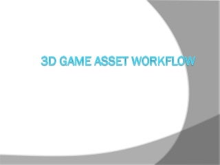 Bengkel Gamelan 3D game asset workflow