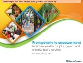 MGI: From poverty to empowerment: India's imperative for jobs, growth, and effective basic services
