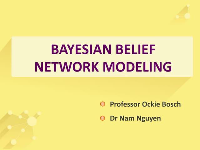 Module 5 Bayesian belief network modelling