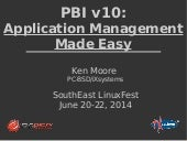 PBI v10: Application Management Made Easy by Ken Moore