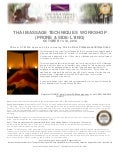 Thai Massage: Prone & Side Lying Positions Continuing Education Workshop
