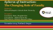 Spheres of Instruction: The Changing Faculty Role
